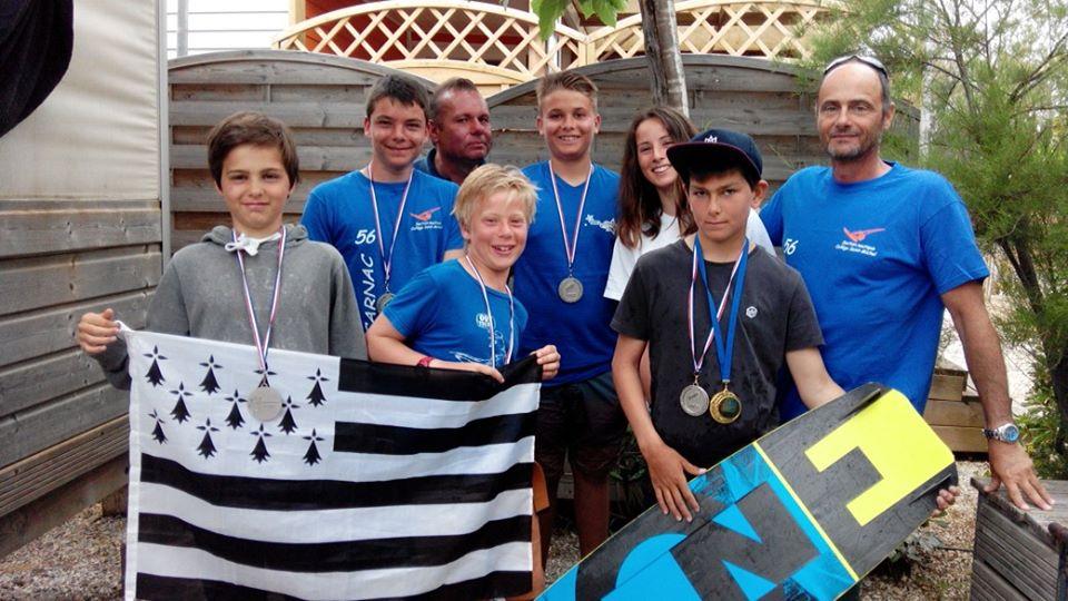 Nos jeunes Vices champions de France de kitesurf !!!
