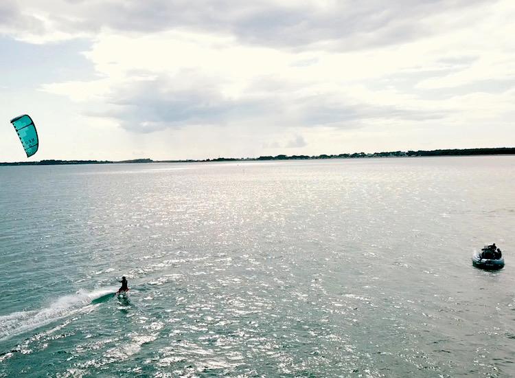 cours kitesurf pleine eau carnac