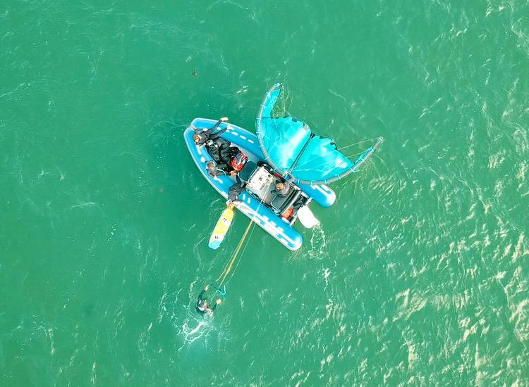 stage kitesurf bateau
