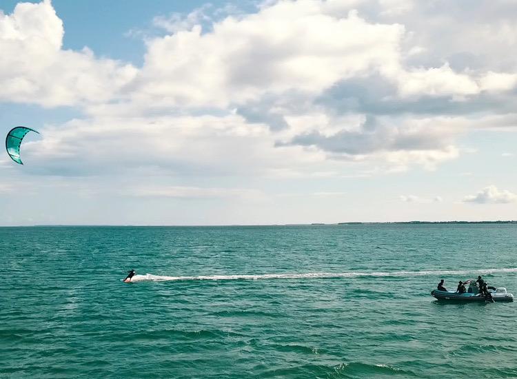 stage kitesurf en baie de carnac