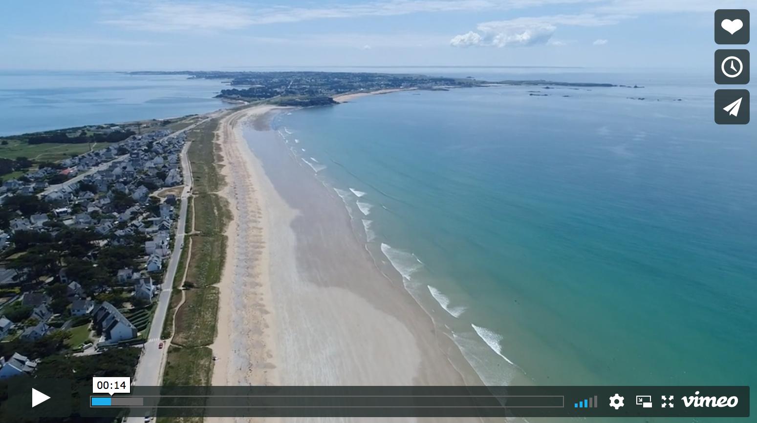 vidéo des spots de kitesurf de quiberon