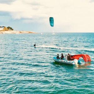 cours pleine eau kitesurf quiberon