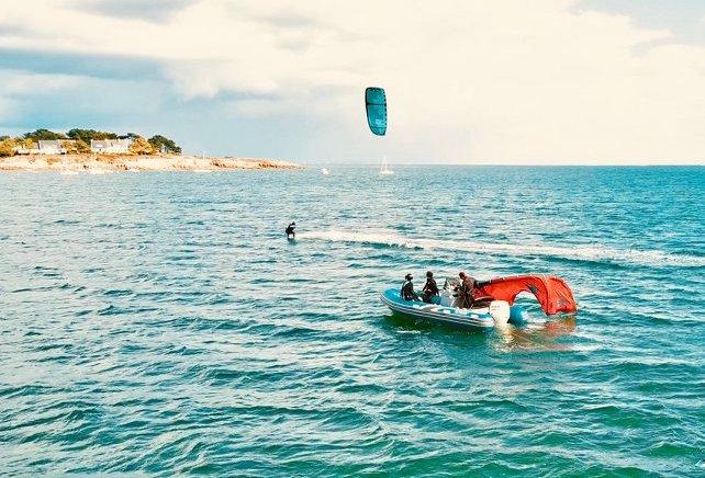 cours pleine eau kitesurf
