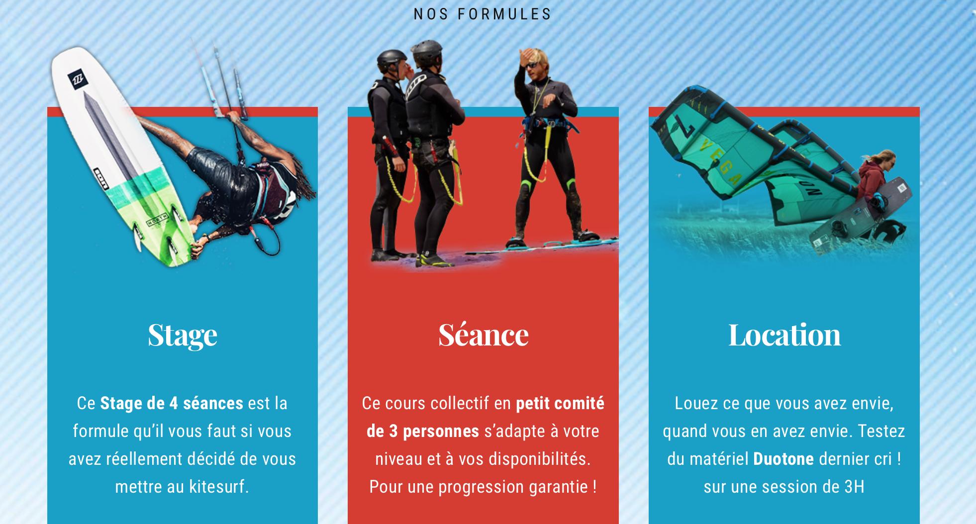 cours et stages de kitesurf de qualité