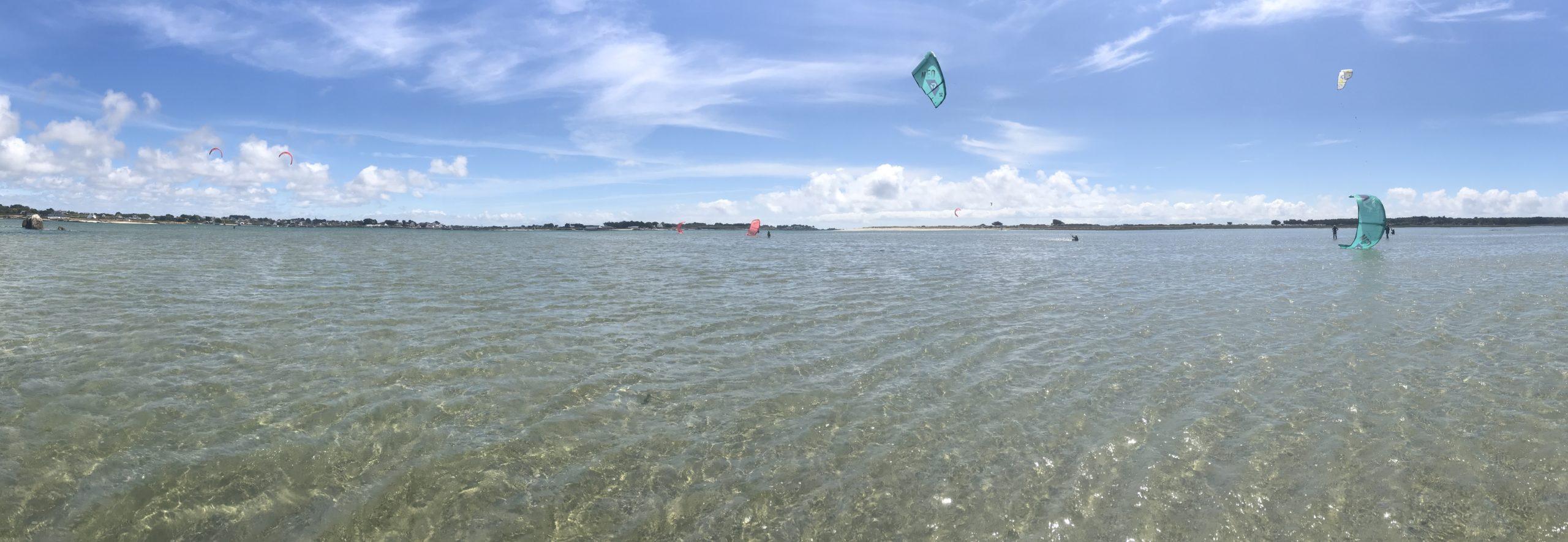kitesurf spot sables blancs